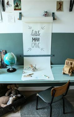 Craft Room Ideas Bedroom Desks New Ideas Study Table Designs, Study Room Design, Room Ideas Bedroom, Kids Bedroom, Room Kids, Room Decor, Casa Kids, Boys Desk, Kids Study