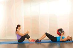 10. Medicine-Ball Sit-Ups