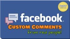 Buy Facebook Comments, From Real People! http://www.fastfacelikes.com/p/buy-facebook-comments.html  ⚡ 100% Real Human Comments From Real People; ⚡ Delivery Time: 1h to 6h.  #SocialMediaMarketing #FacebookMarketing #DigitalMarketing #FastFaceLikes
