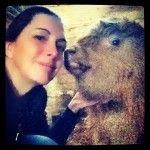 J'ai même eu droit à une lichette sur la joue! #selfie #campagne #ferme #animal #highland #farm