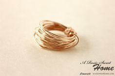 A Rosie Sweet Home: Wire Ring Tutorial
