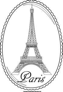 The Word Eiffel Tower Colouring Pages Page