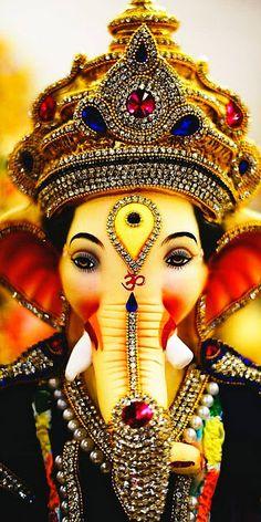 New Cute Lord Ganesha Smiley Wallpaper. Most Famous And Popular Lord Ganesha or bappa wallpaper. Wallpaper by WaoFam. Ganesh Wallpaper, Lord Shiva Hd Wallpaper, Lord Krishna Wallpapers, Jai Ganesh, Ganesh Lord, Ganesh Idol, Shree Ganesh, Ganesha Art, Ganesha Tattoo
