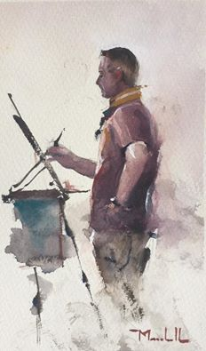 Daniel Marshall of Joseph Zbukvic plein air painting