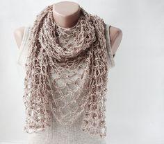 Neat shawl - fish net crochet - no pattern - just a good idea