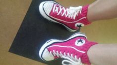 Converse  Reaverse slippers tennis DIY knitting crochet socks