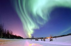 The Aurora Borealis, also known as Northern Lights