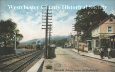 Riverside Avenue, Croton, New Rochelle, New York. From the Westchester County Historical Society.