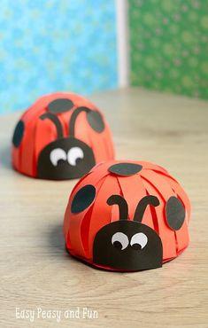 Paper Ladybug Craft - Cute Ladybug Craft for Kids to Make