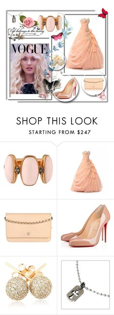"""""""Rose..."""" by umay-cdxc ❤ liked on Polyvore featuring de Grisogono, Chanel, Christian Louboutin, Loushelou and Chrome Hearts"""