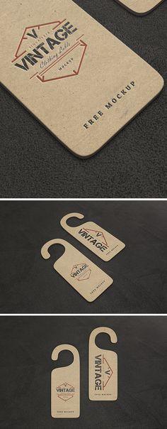 VIntage Label PSD Mockup
