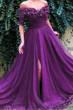 Luxury Off Shoulder Sweetheart Prom Dress with Appliques Party Gown cg – classygown Prom Outfits, Prom Dresses For Teens, V Neck Prom Dresses, Grad Dresses, Ball Dresses, Ball Gowns, Formal Dresses, Evening Dresses, Pretty Dresses