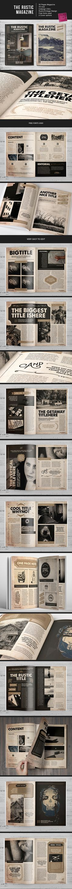 The Rustic MGZ by Lucas Iacono, via Behance