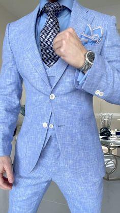 Mens Fashion Blazer, Suit Fashion, Dress Suits For Men, Men Dress, Men's Suits, Designer Suits For Men, Wedding Suits, Wedding Dress, Well Dressed Men