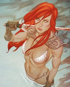 Red Sonja (Dynamite, Vol. Dynamite comic book: Item: Red Sonja (Dynamite, Vol. Red Sonja, Free Comics, Bd Comics, Comics Girls, Hack And Slash, Comic Book Covers, Comic Books Art, Top Female Artists, Midtown Comics