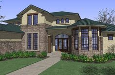 Mediterranean House Plan with 4629 Square Feet and 4 Bedrooms from Dream Home Source | House Plan Code DHSW74305