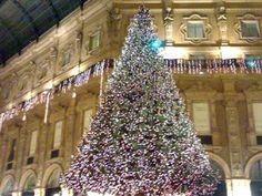 GLI ALBERI DI NATALE PIÙ BELLI DEL MONDO.  Milano, Italia, Albero di Natale di Swarovski