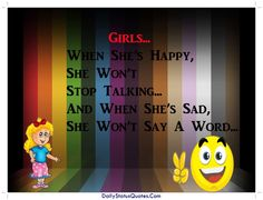 Girls happy and sad quotes for whatsapp  Daily Status Quotes
