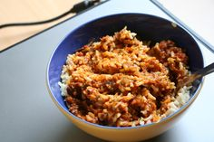 Bei Carola gab es ein Curry nach Jamie Oliver zu Mittag.