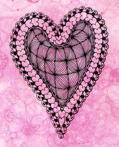 open heart zentangle by art4u2c, via Flickr