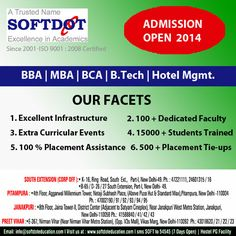 Softdot Hi-Tech Educational & Training Institute is one of the best institute in the city. It provides all the required modern facilities to its students. It also has world class infrastructure for the comfort of the students. The Institutes are intentionally located at prominent locations well connected with all modes of transport.  The faculty members at the Institute for various courses are highly qualified and experienced in their respective fields.