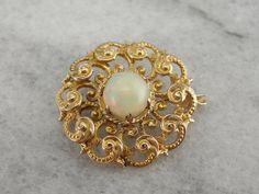 Outstanding Opal in Victorian Milgrain Brooch Gold Bar Earrings, Ruby Necklace, Gold Jewellery Design, Gold Jewelry, Jewelry Box, Rajputi Jewellery, Kids Jewelry, Pendant Set, Indian Jewelry