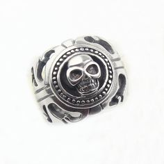 Skull Head Biker Ring