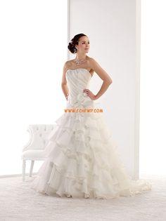 Straps Elegant & Luxurious Zipper Wedding Dresses 2014