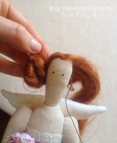 Handmade Home Blog - Small Fairy Art: How To Sew Tilda Angel Doll - Detailed Tutorial