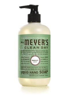 *PARSLEY* ???  I've never heard of a parsley-scented product.  Not sure what to think.   It got lots of good reviews.  Good for Passover, maybe?    Amazon.com: Mrs. Meyer's Clean Day Parsley Liquid Hand Soap, 12.5 Ounce (Pack of 2): Beauty