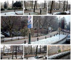 Un jour de l'hiver et de neige à Bruxelles.