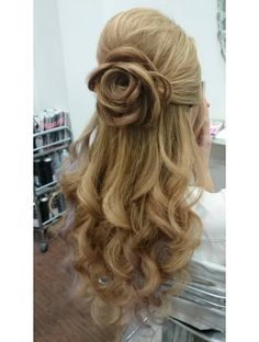 Dinner Hairstyles, Open Hairstyles, Girl Hairstyles, Braided Hairstyles, Wedding Hairstyles, Hair Arrange, Hair Setting, Prom Hair, Hair Looks