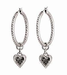 Harley-Davidson® Womens Heart Hoop Earrings