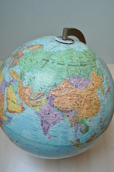 Instead of toys - christmas present Globe Art, Map Globe, You Mean The World To Me, Vintage Globe, World Globes, Star Sky, Cartography, Christmas Presents, My World
