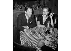 Sinatra & Bacall at the Musso and Frank Grill in Hollywood