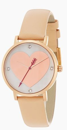 Blush heart watch by kate spade new york