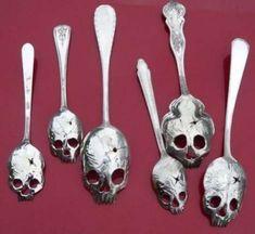 skull spoons for tea time..YES!!