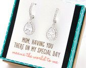 Personalized Bridesmaids Gift Crystal Stud Earrings by AMYOBridal