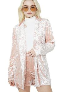Smart N' Smarter Velvet Blazer Corduroy Blazer, Plaid Blazer, J Valentine, Cropped Blazer, Velvet Blazer, Boy London, Pink Jacket, Pink Velvet, Outerwear Women