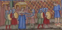 Manuscript BNF Français 782 Roman de Troie Folio 193v Dating 1340-1350 From Venice, Italien