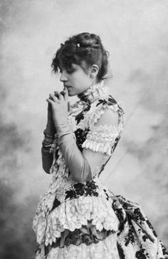 """Eleonora Duse, born 1858 in Vigevano, Italy to actors Alessandro & Angelica Duse, started acting at 4 years old, portraying Cosette in Les Miserables. She acted in many companies and became popular in Europe & America. She would not wear makeup and was quoted as saying """"I make up my soul, not my face."""" During her last tour in 1924, after a performance in Pittsburgh, Pennsylvania Eleonora Duse died."""