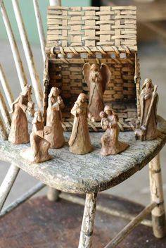 What a really neat way to to display a Nativity Christmas Nativity Set, Cozy Christmas, Christmas Time, Xmas, Nativity Sets, Christmas Service, Happy Birthday Jesus, O Holy Night, Holidays And Events