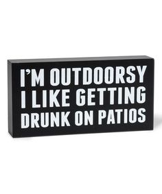 Love this 'I'm Outdoorsy' Block Sign on #zulily! #zulilyfinds