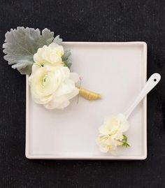 DIY Wedding Crafts : DIY Wedding Whites Boutonniere