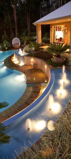 swimming pools, dream backyard, outdoor living, dream pools, outdoor live, resort, hous, place, backyards