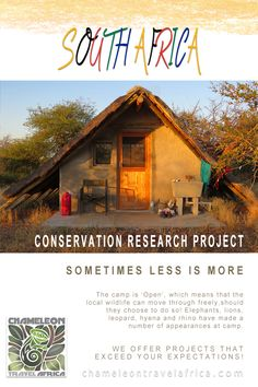 This project offers a unique and incredible experience of the African bush for inexperienced volunteers as well as qualified or studying students and interns. Living and working at this project means that you gain real exposure to a functioning open wildlife habitat system.   #study #intern #volunteer #southafrica #experience