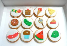 The Hungry Caterpillar cookies.