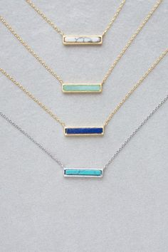 Marble Bar Necklace Available in White Marble, Jade, Royal Blue and Turquoise! ($20.00)