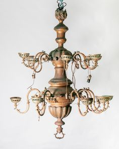 The 'Before' shot of the Antigua chandelier Restoration, Candle Holders, Home And Garden, Chandelier, Ceiling Lights, Candles, Rustic, Home Decor, Antigua