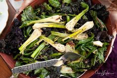 sautéed greens with spring onions on www.CherylStyle.com